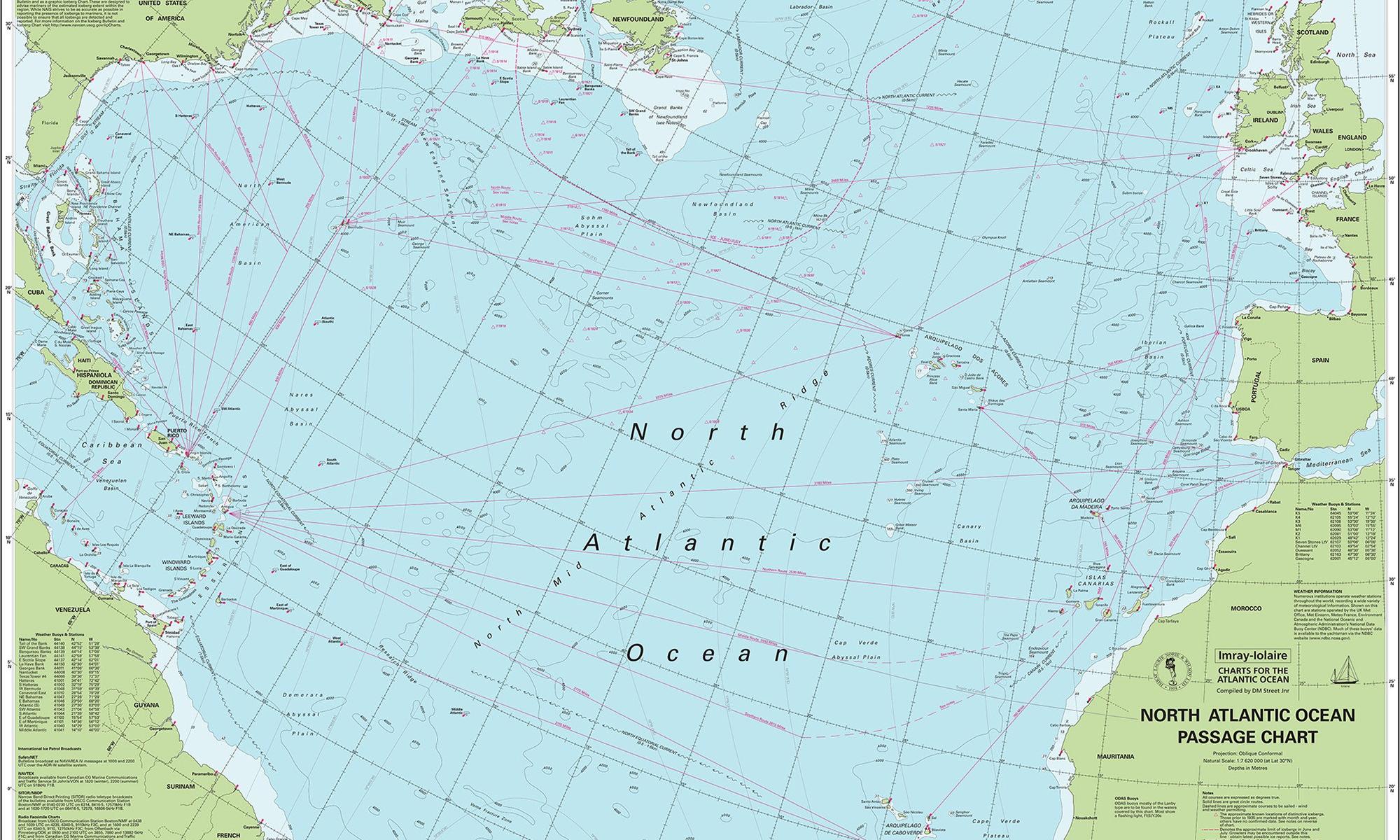 Sjökort Atlanten